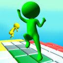 彩色六边形跳跃