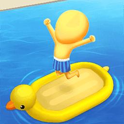 疯狂游泳转圈圈